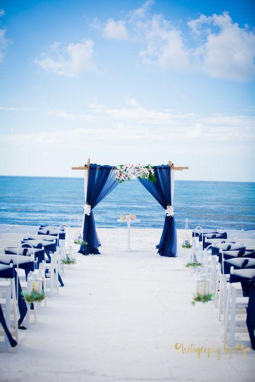Blue Silver Wedding Invitation Design